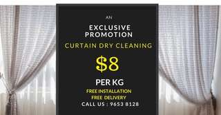 CURTAIN DRY CLEANING !