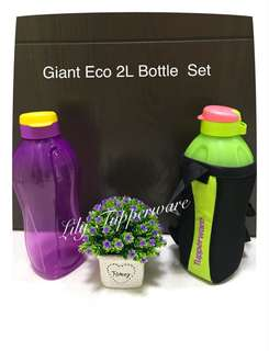 Tupperware Giant 2L Eco Bottle Set