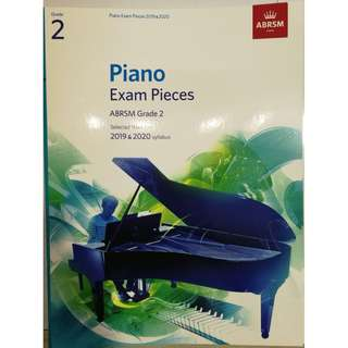 ABRSM Piano 2019-2020 Grades 2 Practical Examination Book without CD