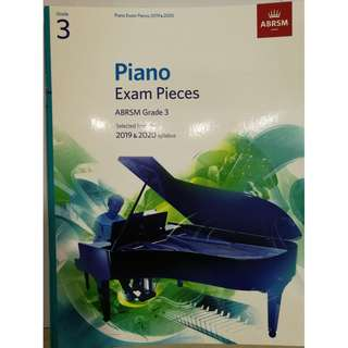 ABRSM Piano 2019-2020 Grades 3 Practical Examination Book without CD