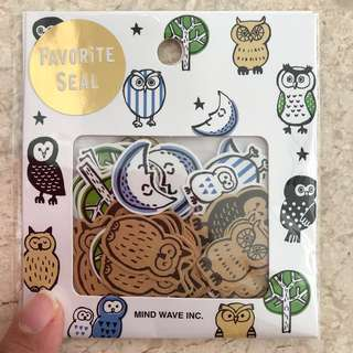 🚚 Owl stickers 70pcs