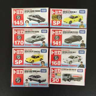 Tomica Initial D Diecast Cars Set