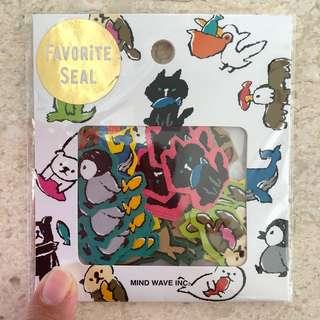 Animal stickers 70pcs