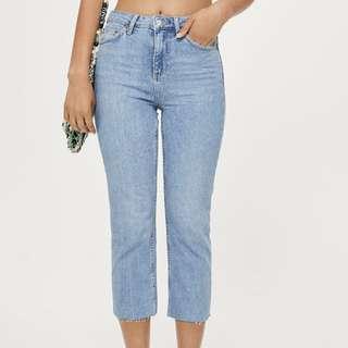 Topshop Petite Raw Hem Jeans