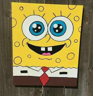 Lukisan spongebob