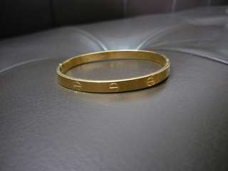Cartier Inspired Classic Yellow Gold Bangle