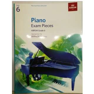 ABRSM Piano 2019-2020 Grade 6 Practical Examination Book without CD Free Normal Mail  Mail in 7 days
