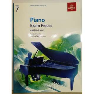 ABRSM Piano 2019-2020 Grade 7 Practical Examination Book without CD  Free Normal Mail
