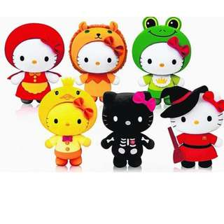"""Limited Edition Hello Kitty """"The Singing Bone"""" Fairy Tale Plush (WHOLE SET of 6 Available)! New! Plastic Wrapped around Box still"""