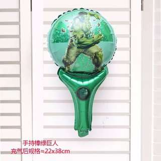 B27 birthday party foil balloon hulk green gain handheld