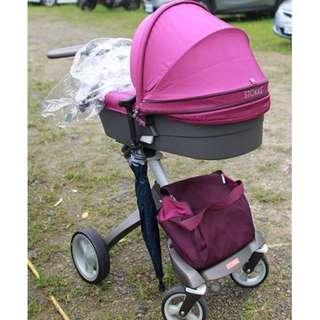 Stokke Xplory V4 嬰兒推車 (近全配) 有保固 有原箱 高景觀 兒童座椅 餐桌 新光三越專櫃購入