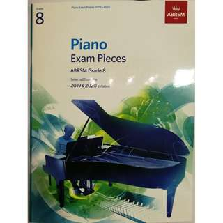 ABRSM Piano 2019-2020 Grade 8 Practical Examination Book without CD  Free Normal Mail