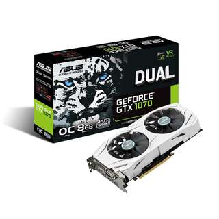 🚚 ASUS Dual series GeForce® GTX 1070 OC edition 8GB GDDR5 (DUAL-GTX1070-O8G)