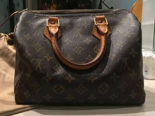 REPRICE Authentic Louis Vuitton Monogram Speedy 25 Handbag