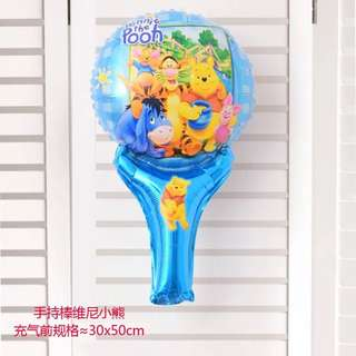 B29 birthday party foil balloon Winnie the Pooh handheld