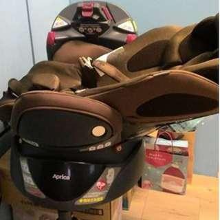 Aprica Fladea DX 170度 0~4歲 平躺型 汽車安全座椅 貓頭鷹棕 防震材質 頭部守護墊