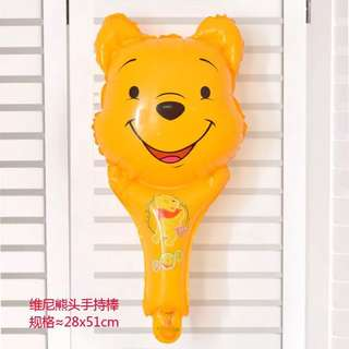 B28 birthday party balloon Winnie the Pooh head handheld