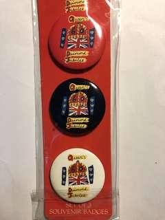 Queen's diamond jubilee badges