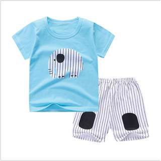 Sleeve (mix any design) Short-Sleeved Suit Cotton Children - Min Qty 3 Pairs