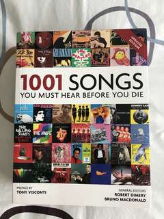 1001 Songs You Must Hear Before You Die : Preface by Tony Visconti