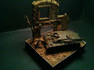 """Road to berlin"" tank diorama.scale 1:72.rm50 include postage."