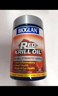 🚚 Bioglan Red Krill Oil 1000mg (60 capsules)