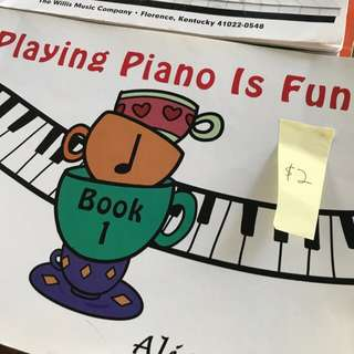 Playing Piano is fun. Beginner's book