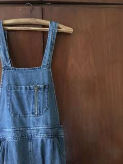 Overall jeans skirt