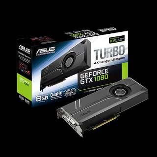 🚚 ASUS Turbo GeForce® GTX 1080 8GB GDDR5X (TURBO-GTX1080-8G)