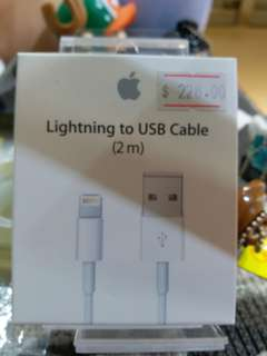 正版APPLE LIGHTNING TO USB 線 (2M)