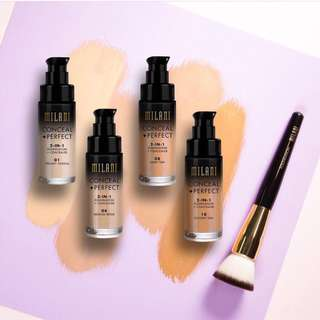 🚚 🌸 Milani Conceal + Perfect 2 in 1 Foundation- 03 Light beige #Caroupay