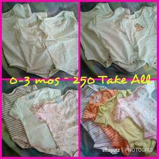 0-3 mos baby girl clothes