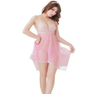 Lelong!!📣📣 Ready stock sexy nightgown lace skirt