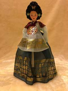 Korean Doll In Traditional Hanbok