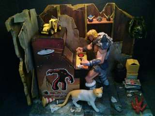 """""""Men's cave"""" diorama.rm200 including shipping"""
