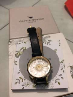 Olivia Burton 3D Daisy Black & Rose Gold