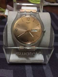 Swatch watches rose gold