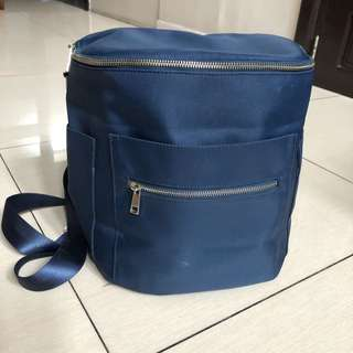 Charliebaby Travel Diaper Bag in Navy and Silver