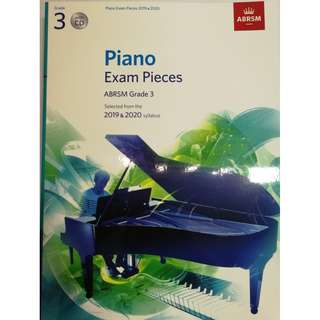 ABRSM Piano 2019-2020 Grade 3 Practical Examination Book with CD  Free Normal Mail