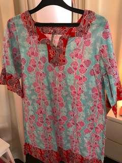 Dress batik Tulisan