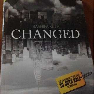 Novel Changed, oroginal,  best seller Nasional