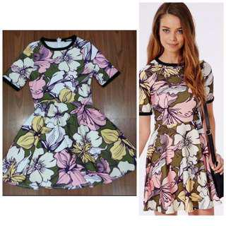 SALE Hawaiian Floral Vintage Colourful Dress