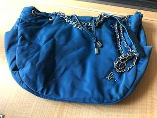 70%new Agnes B Blue hobo bag