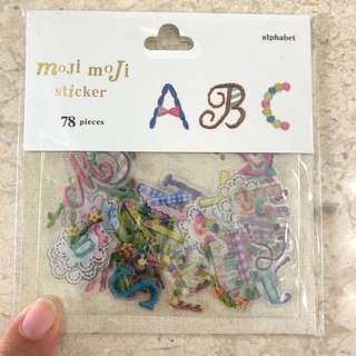 Lace and ribbons alphabet stickers, 78pcs