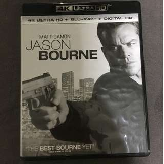 """🚚 """" Jason Bourne (2016)"""" 4K Ultra HD Blu-ray (Opened just for personal watched once only)"""