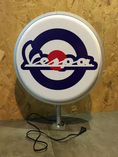Authentic Vespa Signage Lightbox