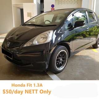 Honda Fit 1.3A (Black) Grab/Ryde Ready ($50/day)