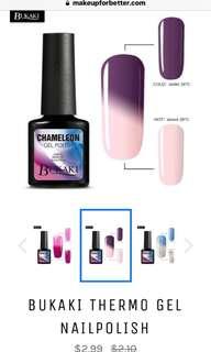 Temperature changing nail polish
