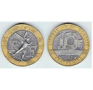 法國 舊幣一枚
