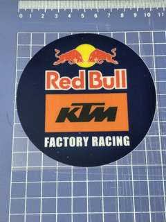 Redbull/KTM Glass decal